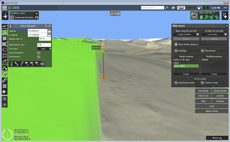 ArcticDEM for safer UAV flights custom map import in UgCS