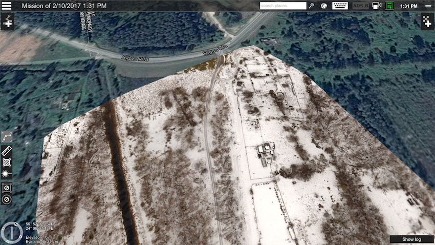 Imported geotiff in UgCS created with UgCS Photogrammetry tool