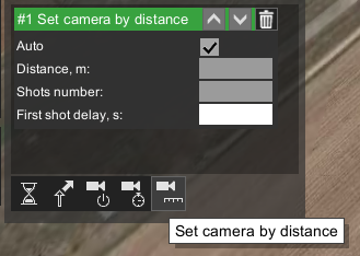 Set camera's control action in UgCS Photogrammetry tool