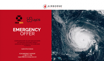Airborne Response with Edgybees and UgCS to Provide Software to Public Safety Agencies Responding to Hurricane Florence