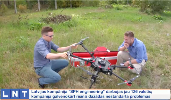 GPR-drone integrated system delivered to coordinates in Greenland
