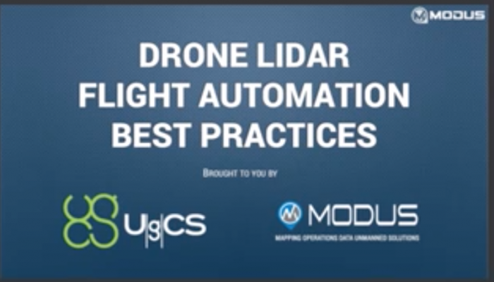 Webinar recording: Drone-based LiDAR mission planning and data collection with UgCS