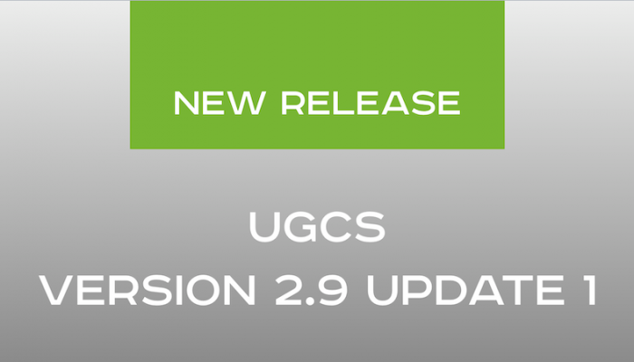 UgCS version 2.9 update 1 released